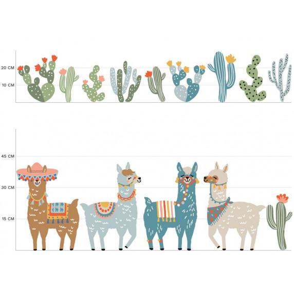 Dekorácia na stenu ANIMALS Llamas - Láma hnedá