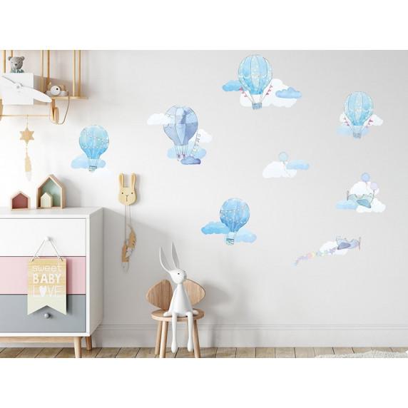 Dekorácia na stenu BALLONS - Balóniky modré