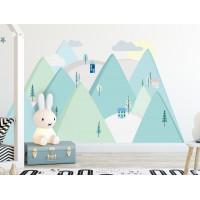Dekorácia na stenu MINT MOUNTAINS 180  x 90 cm  - L