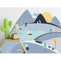 Dekorácia na stenu BLUE MOUNTAINS 180  x 90 cm  - L