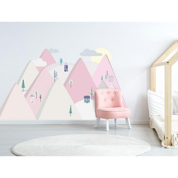 Dekorácia na stenu PINK MOUNTAINS 150  x 75 cm  - S