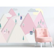 Dekorácia na stenu PINK MOUNTAINS 150  x 75 cm  - S Preview