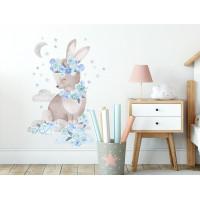 Dekorácia na stenu SECRET GARDEN Rabbit - Zajačik modrý