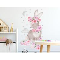 Dekorácia na stenu SECRET GARDEN Rabbit - Zajačik ružový