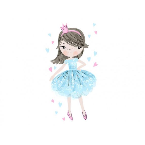 Dekorácia na stenu CHARACTERS Princess - Princezná modrá
