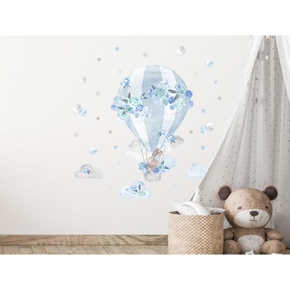 Dekorácia na stenu SECRET GARDEN Hot Air Balloon - Balón modrý