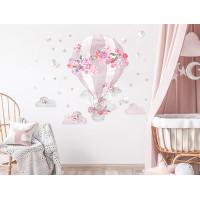 Dekorácia na stenu SECRET GARDEN Hot Air Balloon - Balón ružový