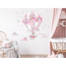 Dekorácia na stenu SECRET GARDEN Hot Air Balloon - Balón ružový Preview