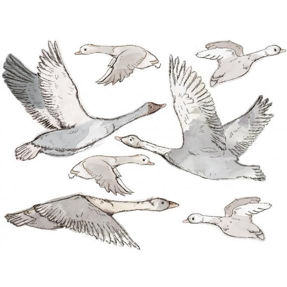 Dekorácia na stenu ANIMALS Geese - Husy
