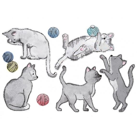 Dekorácia na stenu ANIMALS Cats - Mačičky