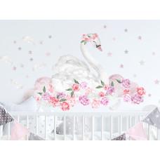 Dekorácia na stenu SECRET GARDEN Swan - Labuť ružová Preview