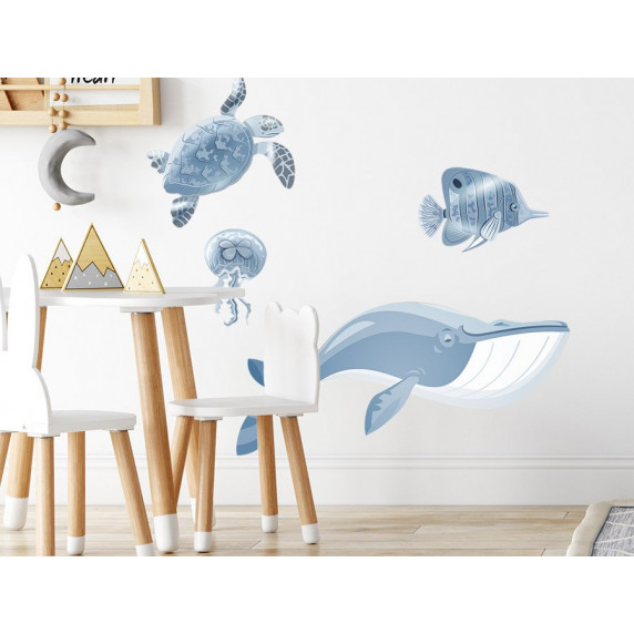 Dekorácia na stenu ANIMALS Ocean - Svet oceánu