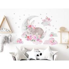 Dekorácia na stenu SECRET GARDEN Sleeping Rabbit - Spiaci zajačik ružový Preview