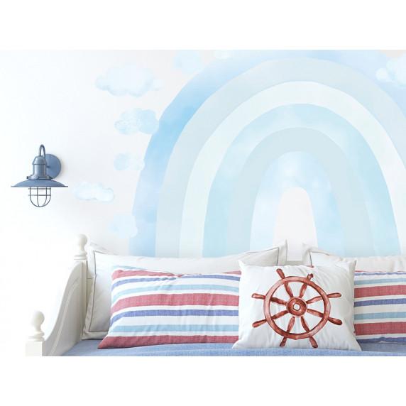 Dekorácia na stenu RAINBOW - Dúha - modrá