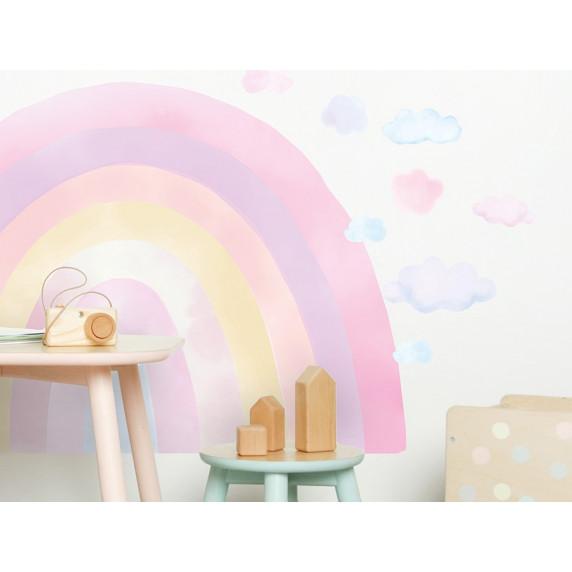Dekorácia na stenu RAINBOW - Dúha - ružová