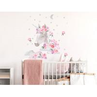 Dekorácia na stenu SECRET GARDEN Unicorn - Jednorožec ružový