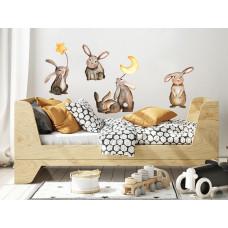 Dekorácia na stenu ANIMALS Bunnies - Zajačikovia Preview