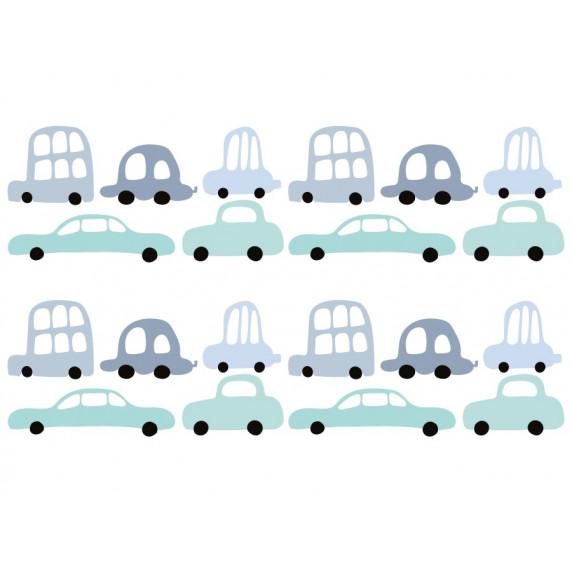 Dekorácia na stenu CARS 18 ks - Autíčka
