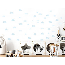 Dekorácia na stenu MINI RAINBOW - Malé dúhy - modré Preview