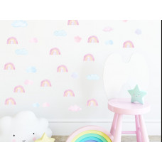 Dekorácia na stenu MINI RAINBOW - Malé dúhy - ružové Preview