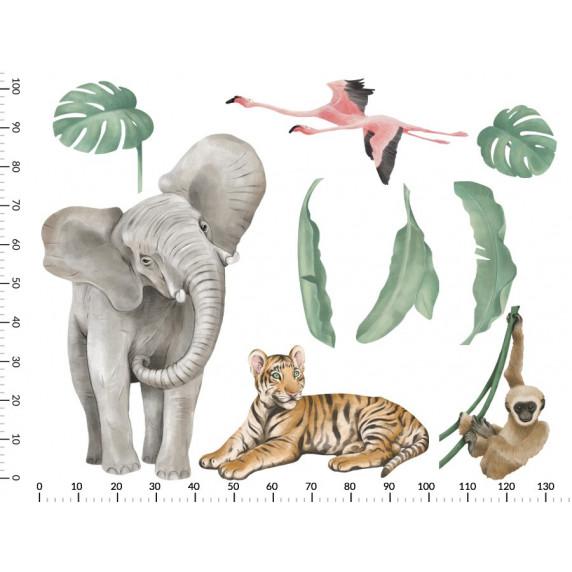 Dekorácia na stenu SAFARI ANIMALS I