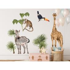 Dekorácia na stenu SAFARI ANIMALS II Preview