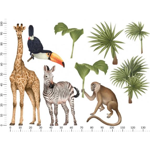 Dekorácia na stenu SAFARI ANIMALS II