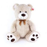 Veľký plyšový medveď Miki 65 cm svetlý - mohutná velkosť