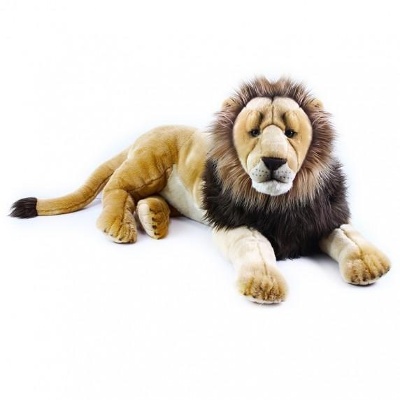 Veľký plyšový ležiaci lev 92 cm