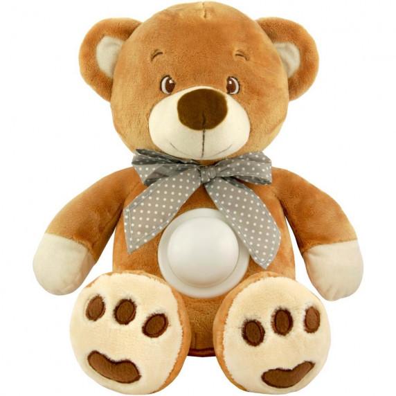 Plyšový zaspávačik medvedík s projektorom Baby Mix hnedý