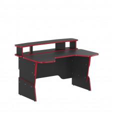 SKYLAND Skill Písací stôl 7055551 - antracitový s červeným lemom Preview