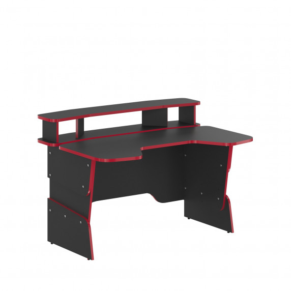 SKYLAND Skill Písací stôl 7055551 - antracitový s červeným lemom