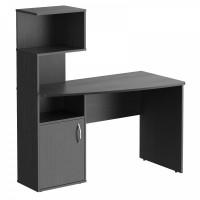 TAIPIT Comp Písací stôl s policami 120 x 60 x 135 cm - Dark Legno