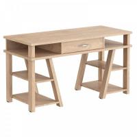 TAIPIT Comp Písací stôl so zásuvkou a policami 140 x 60 x 78,4 cm - Devon Oak