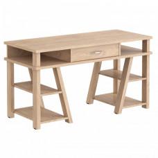 Písací stôl so zásuvkou a policami 140 x 60 x 78,4 cm TAIPIT Comp  - Devon Oak Preview