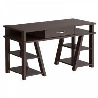TAIPIT Comp Písací stôl so zásuvkou a policami 140 x 60 x 78,4 cm - Wengge Magic