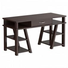 Písací stôl so zásuvkou a policami 140 x 60 x 78,4 cm TAIPIT Comp - Wengge Magic Preview