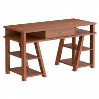 TAIPIT Comp Písací stôl so zásuvkou a policami 140 x 60 x 78,4 cm - Noce Dallas