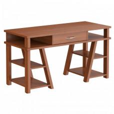 Písací stôl so zásuvkou a policami 140 x 60 x 78,4 cm - TAIPIT Comp Noce Dallas Preview