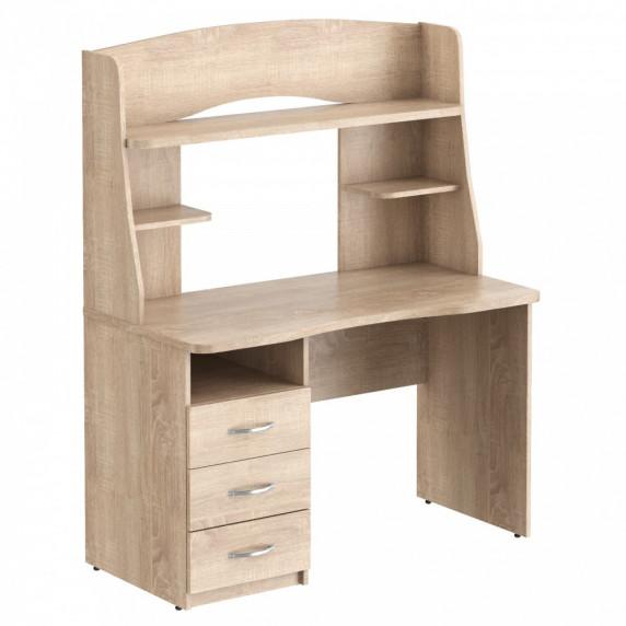 TAIPIT Comp Písací stôl so zásuvkami a policami 120 x 60 x 152,5 cm - Sonoma Oak light