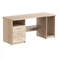 TAIPIT Comp Písací stôl so zásuvkami a policami 136 x 63 x 75 cm - Sonoma Oak Light