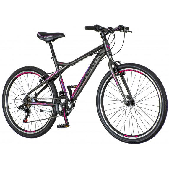 """Dámsky horský bicykel AURORA 26""""/18"""" AUR 266 - sivo-fialovo-ružový"""