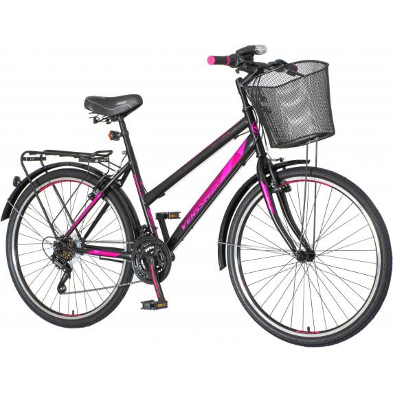 "Dámsky horský bicykel Venssini Roma 26""/18"" ROM265 - čierno ružová"