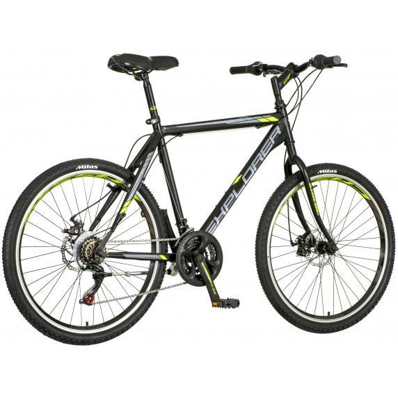 "Pánsky horský bicykel Explorer Classic  26""/21 - čierno/sivý/zelený"
