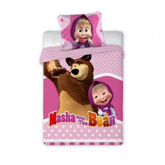 Detské posteľné obliečky Máša a Medveď 135x100 cm