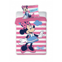 Detské posteľné obliečky Minnie Mouse - pruhovaný 135 x 100 cm