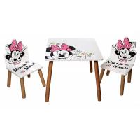 Detský stolík so stoličkami Minnie STAR0577
