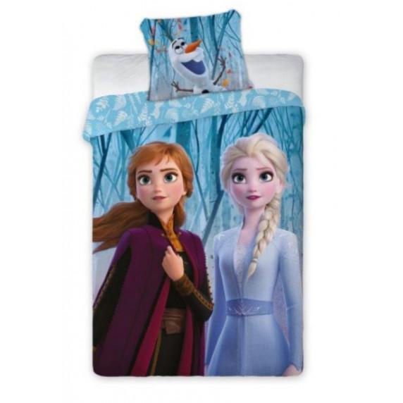 Detské posteľné obliečky Frozen - Anna a Elza 140 x 200 cm