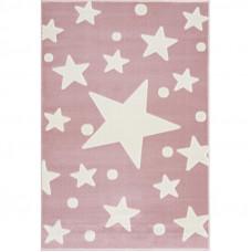Detský koberec Hviezdy 100 x 160 cm - ružový/biely Preview