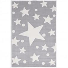 Detský koberec Hviezdy 100 x 160 cm - sivý/biely Preview